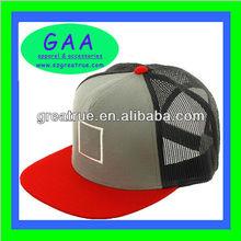 Clean design cotton/mesh blank flat bill trucker hat wholesale trucker hats with adjustable plastic snap