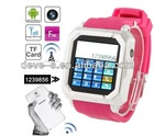 touch screen watch and mobile phone kids pink