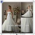 Qq742 um- linha branca appliqued atacado vestidos de noiva muito bonito vestidos de casamento paquistanesa