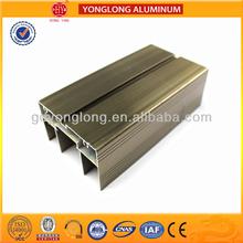 Champagne color aluminum extrusion profile,slide door rails parts supply anodized/powder coating