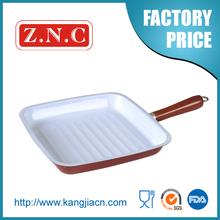 white enamel coating cast iron fry pan