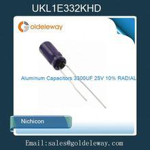 UKL1E332KHD Aluminum Capacitors 3300UF 25V 10% RADIAL