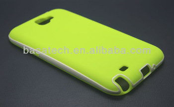 2014 hot sell pc bumper case cell phone case for samsung galaxy note2