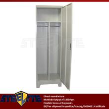 moisture-proof 1 door triple modular godrej steel almirah with feet / one door metal hanging bathroom locker with T-shape shelf