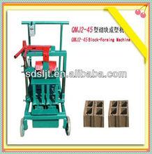 manual block and brick making machines/mini brick making machine/mobile hollow brick making machine