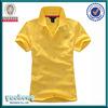 High quality cotton yellow color latest design polo shirt