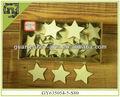 natural de artesanato em madeira em forma de estrela de natal enfeites