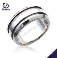 Chic craft tasteful shiny polish botswana agate silver ring