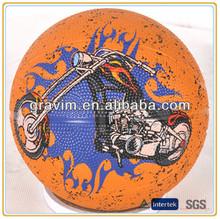 Custom big area printing logo rubber basketball balls