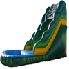 2014 inflatable green slide for kid's happy day A4029