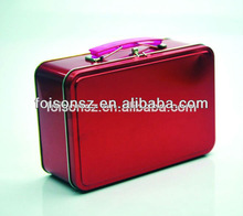 red color beautiful metal briefcase