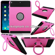 2014 New PC Silicon Combo Rugged Stand Hard Back Case For iPad Air