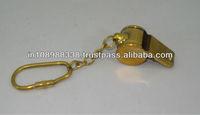 brass whistle keychain brass key ring brass keyring