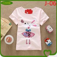 custom the high quality lady's short sleeve big neck t-shirt manufacture china