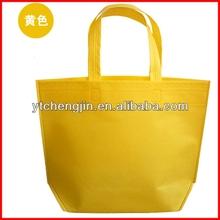 yellow non woven folding shopping bags/6 bottles non woven wine bag