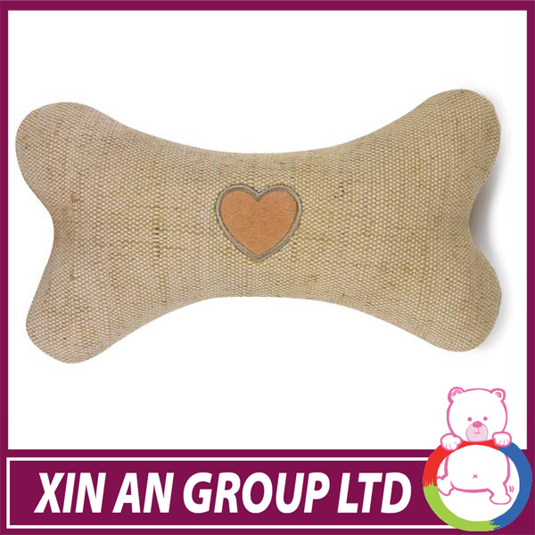 plush charming brown dog bone with heart