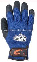 guantes de trabajo del latex de la arruga