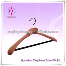 Wooden jacket hanger with cross bar