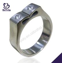 Special designer custom made shiny polish brass rings flat