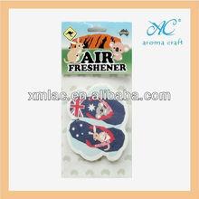Hot selling natural fragrance hanging shoes car air freshener