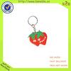 popular pretty strawberry soft pvc car keyring