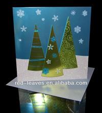 Fantasy Christmas decoration greeting customizd gift card printing