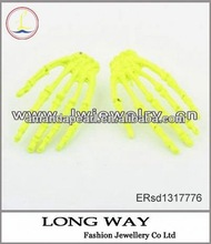 Pair of Chic Style Fluorescent Color Big Women's Circle Earrings