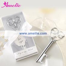 A07800 Simply Elegant Key To My Heart Bottle Opener For Wedding Return Gift