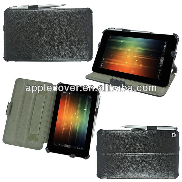 "Litchi Leather Case cover for HP 7"" for HP slate 7 tablet"