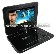 7 inch TFT screen portable DVD player from China