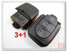 Smart auto clave 4d0 837 231 m para audi a distancia botón 3+1 315 mhz para europa y américa del sur ak008006