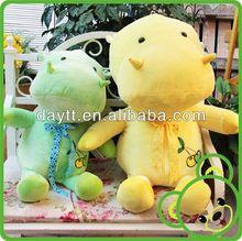 Yellow big stuffed green hippo plush toy HTY0422