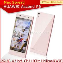 Huawei Ascend P6 Quad-core Android 4.2 3G phone Multi Language 2gb ram mobile phones