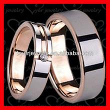 Rose gold tungsten wedding rings