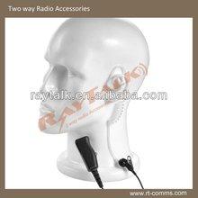 Acoustic Tube Earphone/air tube headset for walkie talkie VX-10 VX-110 VX-130