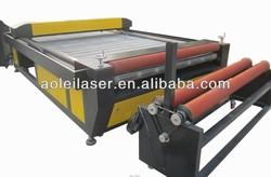 AOL-1600 x 3000mm auto feeding fabric laser cutting machine with roller