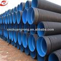 polietileno de alta densidad corrugado de doble pared de la tubería para el drenaje de agua