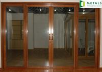 wood clad aluminium door