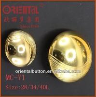 half ball shaped dome metal button