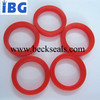 IBG soft and high precision red color mini food grade silicone flat o-ring