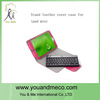 portable leather bluetooth 7.9 inch tablet keyboard case remote control for ipad mini