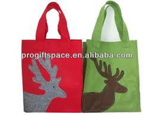 Hot sell Eco friendly felt shopping bag with deer Christmas for sale made in China