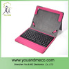 fip purple leather case with external keyboard for tablet for ipad 2 with stand