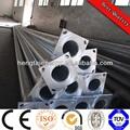 Htlp zinco quente galvanizado solar postes de iluminação, sreet pole, rua pólo de aço