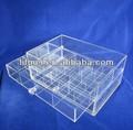 Top transparente claro útil 2 camada acrílico dobrável de divisores de gaveta