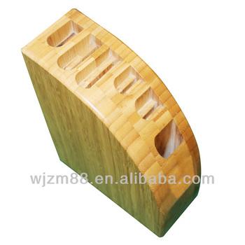 Bamboo kitchen knife block
