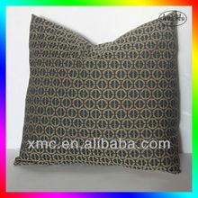 High quality Black modern circles character printed pillow