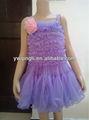 venta al por mayor boutique de ropa del bebé niñas campesinas de gasa vestidos con volantes