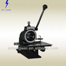 aluminum metal nameplate Manual Press Marking Machine