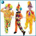 venta caliente de felpa niños carnaval de disfraces de payaso